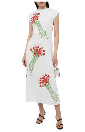 Женское платье BERNADETTE белого цвета, арт. SS21-DRESS-ANN-CRE-1 | Фото 2