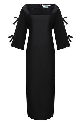 Женское платье BERNADETTE черного цвета, арт. SS21-DRESS-CHL-TAF-1 | Фото 1