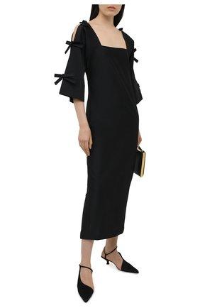 Женское платье BERNADETTE черного цвета, арт. SS21-DRESS-CHL-TAF-1 | Фото 2