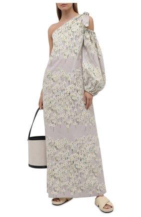 Женское хлопковое платье BERNADETTE серого цвета, арт. SS21-DRESS-LUC-CP0-1 | Фото 2