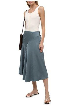 Женская юбка VINCE серого цвета, арт. V739230672 | Фото 2
