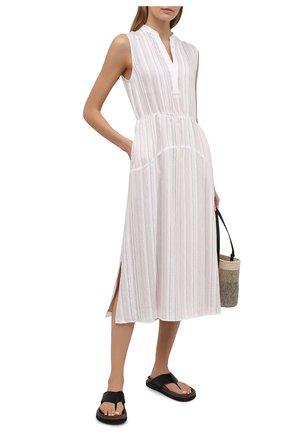 Женское платье из вискозы VINCE бежевого цвета, арт. V729751354   Фото 2