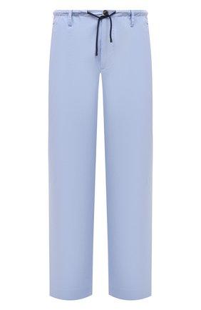 Мужские хлопковые брюки DRIES VAN NOTEN голубого цвета, арт. 211-20930-2228 | Фото 1