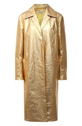 Женское льняное пальто DRIES VAN NOTEN золотого цвета, арт. 211-10234-2327 | Фото 1