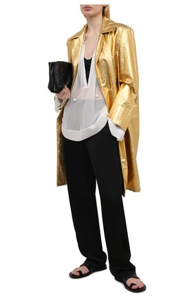 Женское льняное пальто DRIES VAN NOTEN золотого цвета, арт. 211-10234-2327 | Фото 2