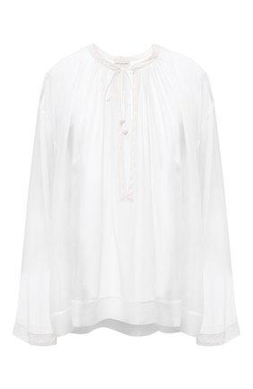 Женская шелковая блузка DRIES VAN NOTEN белого цвета, арт. 211-10757-2322 | Фото 1