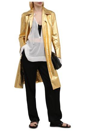 Женская шелковая блузка DRIES VAN NOTEN белого цвета, арт. 211-10757-2322   Фото 2 (Принт: Без принта; Стили: Бохо; Рукава: Длинные; Женское Кросс-КТ: Блуза-одежда; Материал внешний: Шелк; Длина (для топов): Стандартные)
