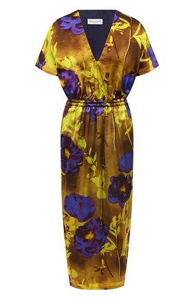Женское платье из вискозы DRIES VAN NOTEN желтого цвета, арт. 211-11088-2089 | Фото 1