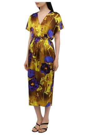 Женское платье из вискозы DRIES VAN NOTEN разноцветного цвета, арт. 211-11088-2089   Фото 3