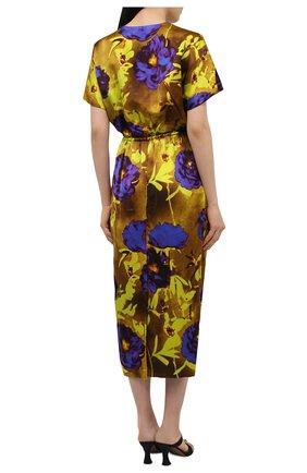 Женское платье из вискозы DRIES VAN NOTEN разноцветного цвета, арт. 211-11088-2089   Фото 4