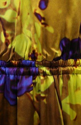 Женское платье из вискозы DRIES VAN NOTEN разноцветного цвета, арт. 211-11088-2089   Фото 5