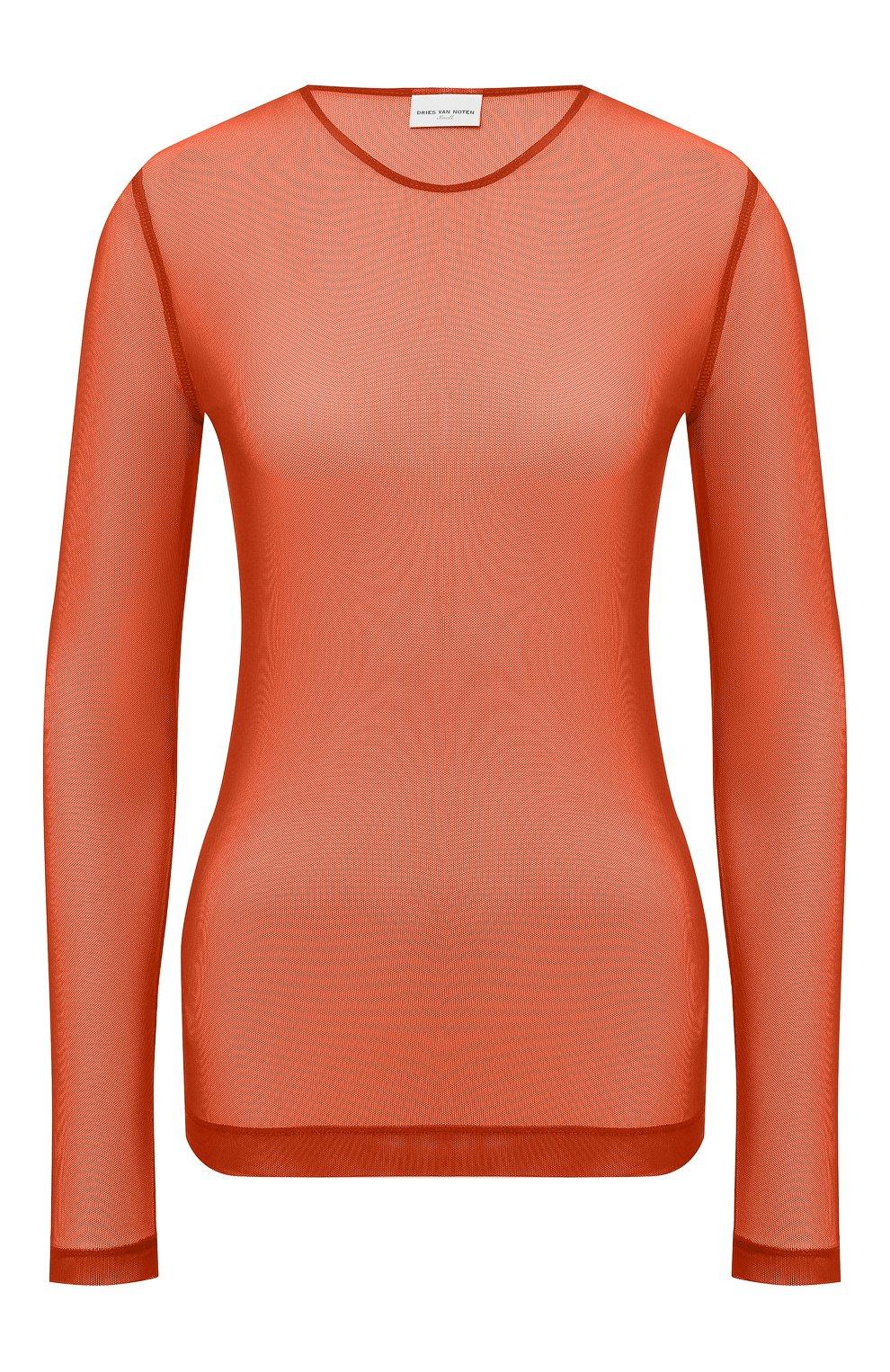 Женский топ DRIES VAN NOTEN оранжевого цвета, арт. 211-11141-2201 | Фото 1