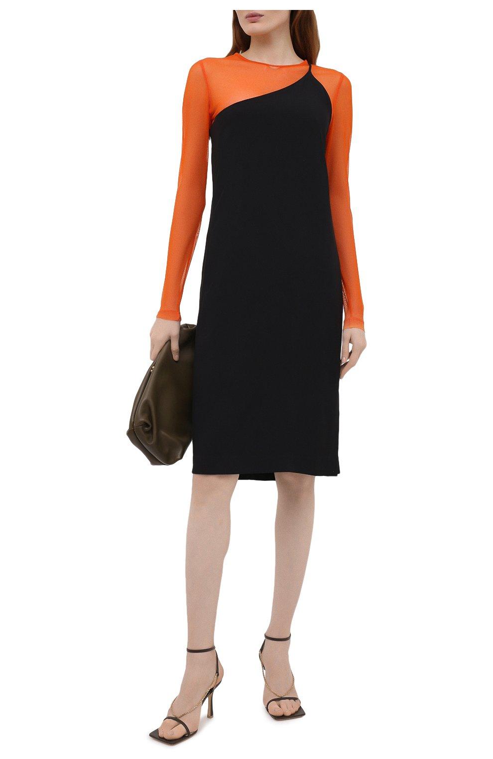Женский топ DRIES VAN NOTEN оранжевого цвета, арт. 211-11141-2201 | Фото 2