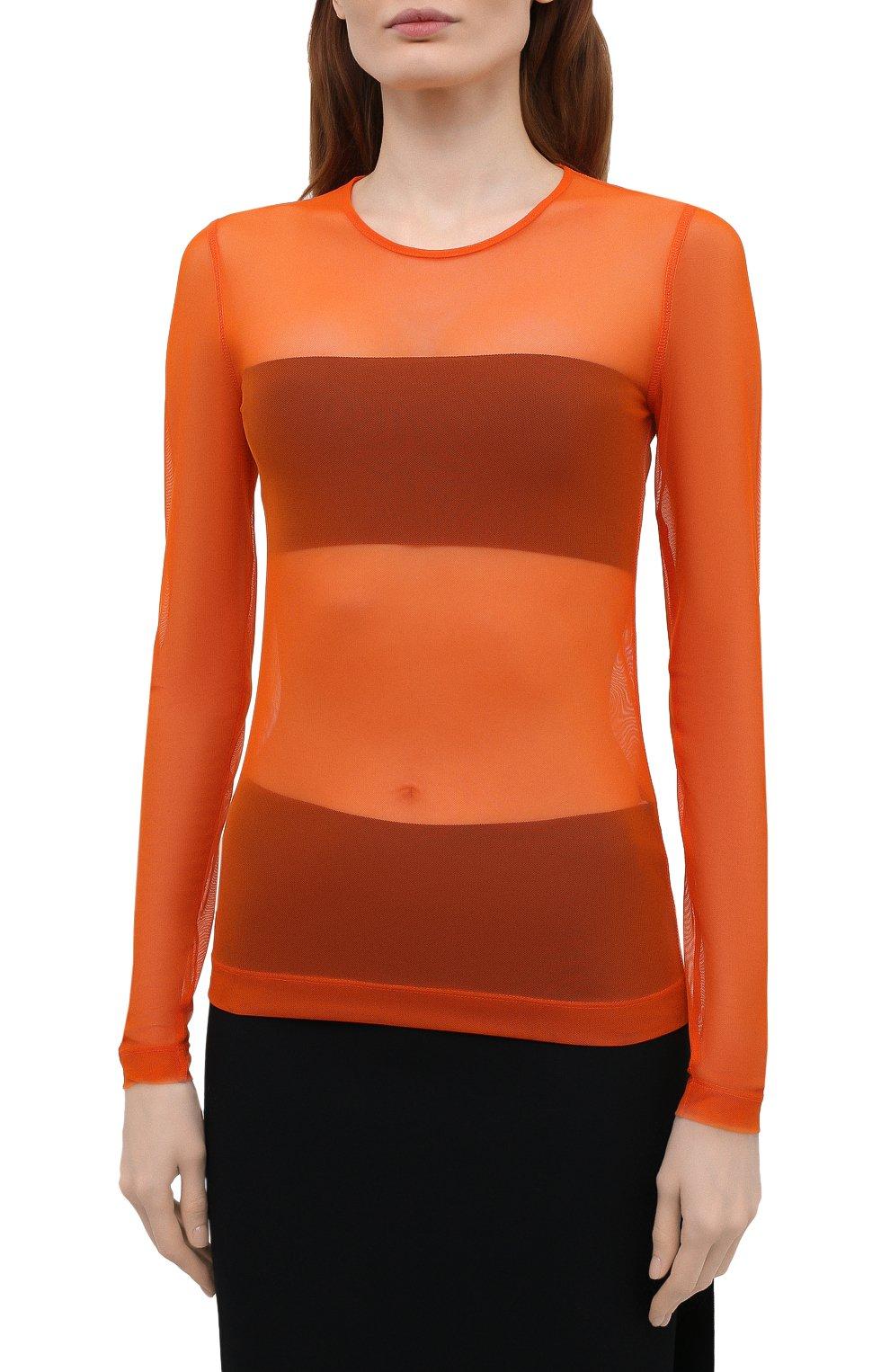 Женский топ DRIES VAN NOTEN оранжевого цвета, арт. 211-11141-2201 | Фото 3