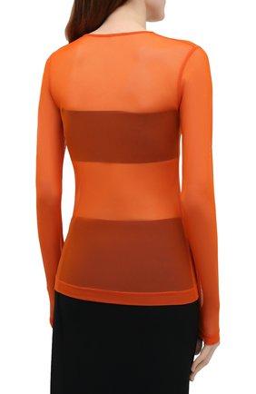 Женский топ DRIES VAN NOTEN оранжевого цвета, арт. 211-11141-2201 | Фото 4