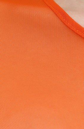 Женский топ DRIES VAN NOTEN оранжевого цвета, арт. 211-11141-2201 | Фото 5