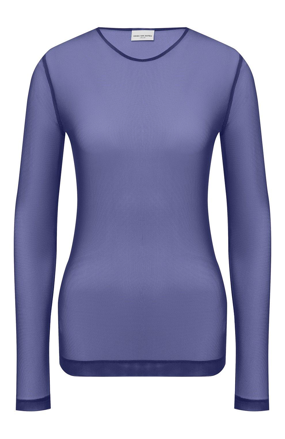 Женский топ DRIES VAN NOTEN синего цвета, арт. 211-11141-2201 | Фото 1