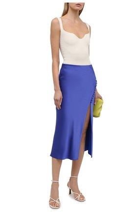 Женская юбка ALICE + OLIVIA синего цвета, арт. CC103205304   Фото 2
