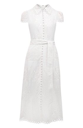 Женское хлопковое платье ALICE + OLIVIA белого цвета, арт. CC103D20530 | Фото 1