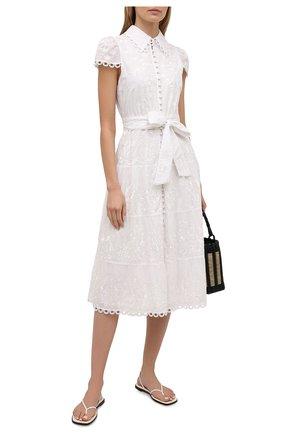 Женское хлопковое платье ALICE + OLIVIA белого цвета, арт. CC103D20530 | Фото 2