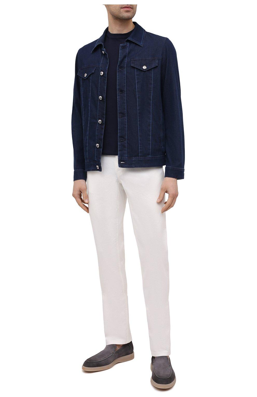 Мужская джинсовая куртка ZILLI темно-синего цвета, арт. MCV-00078-ULBL1/0001   Фото 2