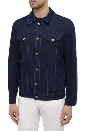 Мужская джинсовая куртка ZILLI темно-синего цвета, арт. MCV-00078-ULBL1/0001   Фото 3