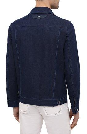 Мужская джинсовая куртка ZILLI темно-синего цвета, арт. MCV-00078-ULBL1/0001   Фото 4