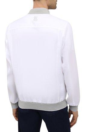 Мужской льняной бомбер ZILLI белого цвета, арт. MFV-17093-6018/0018 | Фото 4