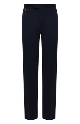Мужские шелковые брюки ZILLI темно-синего цвета, арт. M0V-40-38P-E6041/0001 | Фото 1