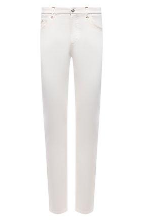 Мужские джинсы ZILLI белого цвета, арт. MCV-00160-WHIT1/S001 | Фото 1 (Кросс-КТ: Деним; Длина (брюки, джинсы): Стандартные; Стили: Кэжуэл; Материал внешний: Хлопок, Деним; Силуэт М (брюки): Прямые)