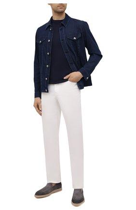 Мужские джинсы ZILLI белого цвета, арт. MCV-00160-WHIT1/S001 | Фото 2 (Кросс-КТ: Деним; Длина (брюки, джинсы): Стандартные; Стили: Кэжуэл; Материал внешний: Хлопок, Деним; Силуэт М (брюки): Прямые)