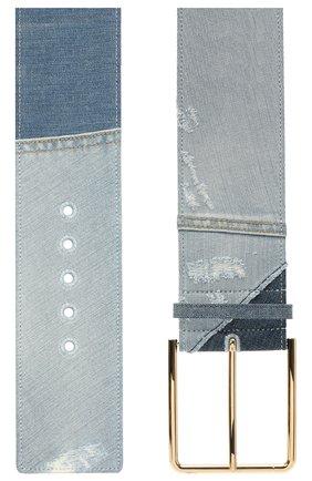 Женский текстильный ремень DOLCE & GABBANA голубого цвета, арт. BE1434/A0621   Фото 2