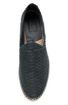 Мужские эспадрильи из кожи питона BRIONI серого цвета, арт. QYPV0L/P9715/PBIV | Фото 5