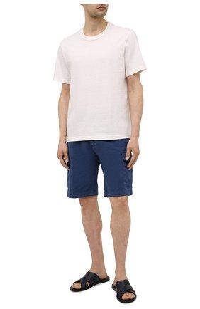 Мужские кожаные шлепанцы ALDO BRUE темно-синего цвета, арт. S3204L-VP | Фото 2 (Материал внутренний: Натуральная кожа)