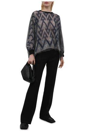 Женская блузка из шелка и вискозы GIORGIO ARMANI темно-синего цвета, арт. 1SHCCZ13/TZ818 | Фото 2