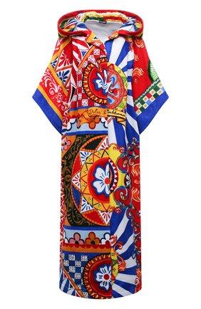 Женский хлопковый халат DOLCE & GABBANA разноцветного цвета, арт. 00A08J/0NI55   Фото 1
