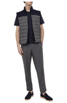 Мужская хлопковая футболка BOGNER темно-синего цвета, арт. 58416604   Фото 2 (Принт: С принтом; Материал внешний: Хлопок; Рукава: Короткие; Длина (для топов): Стандартные)