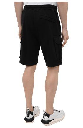 Мужские хлопковые шорты STONE ISLAND черного цвета, арт. 741565651   Фото 4 (Длина Шорты М: До колена; Принт: Без принта; Кросс-КТ: Трикотаж; Материал внешний: Хлопок; Стили: Спорт-шик)