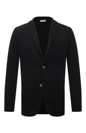 Мужской пиджак изо льна и хлопка GRAN SASSO черного цвета, арт. 57156/18613 | Фото 1