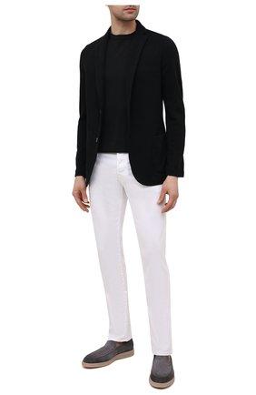 Мужской пиджак изо льна и хлопка GRAN SASSO черного цвета, арт. 57156/18613 | Фото 2