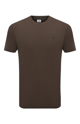 Мужская хлопковая футболка C.P. COMPANY хаки цвета, арт. 10CMTS037A-005100W | Фото 1