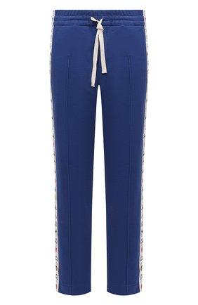 Мужские хлопковые брюки CASABLANCA темно-синего цвета, арт. MS21-JTR-004 NAVY   Фото 1