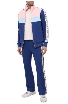 Мужские хлопковые брюки CASABLANCA темно-синего цвета, арт. MS21-JTR-004 NAVY   Фото 2