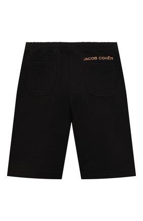 Детские хлопковые шорты JACOB COHEN черного цвета, арт. P1319 J-86002-L   Фото 2