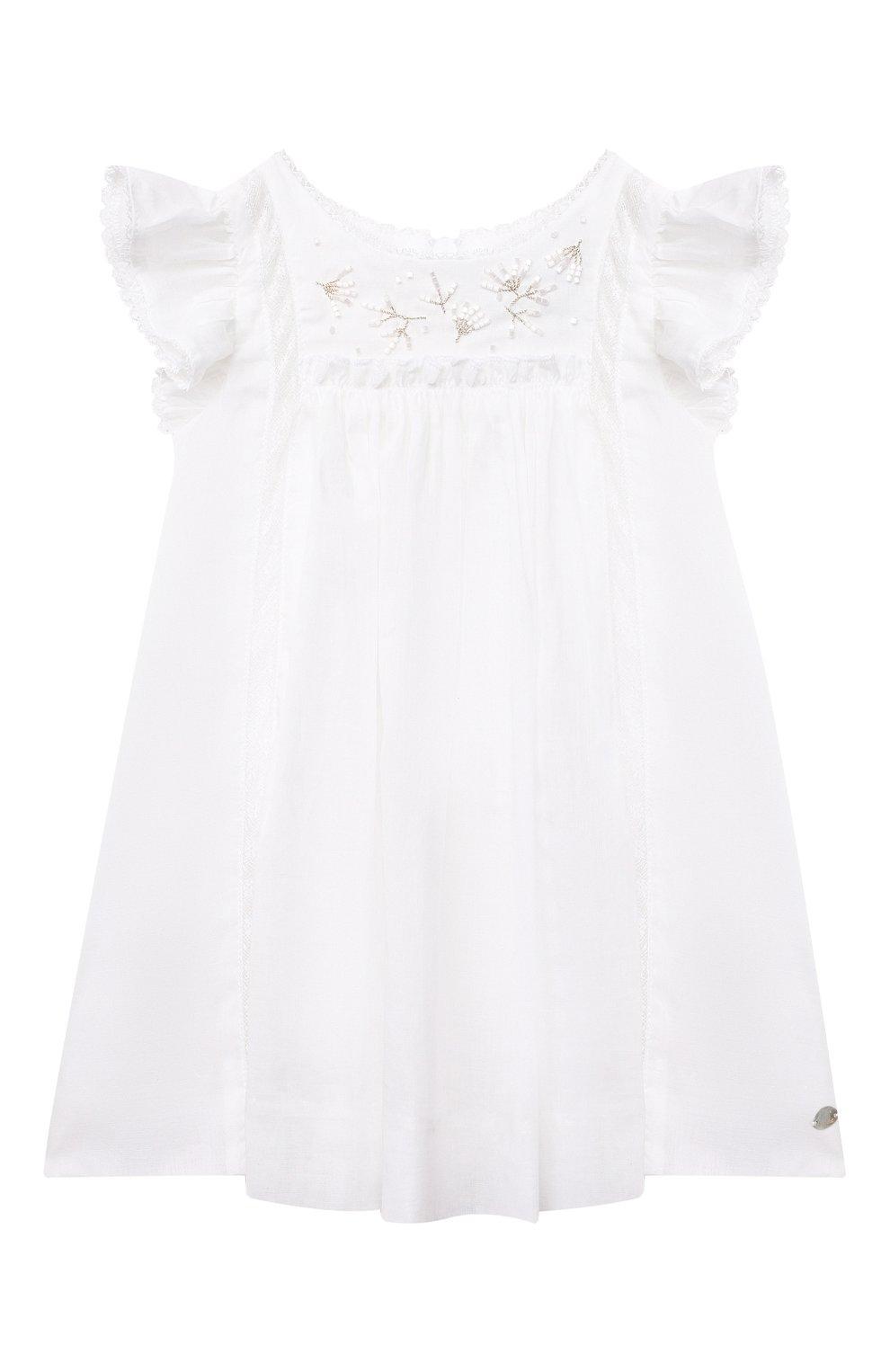 Женский хлопковое платье TARTINE ET CHOCOLAT белого цвета, арт. TS30081/1M-1A | Фото 1