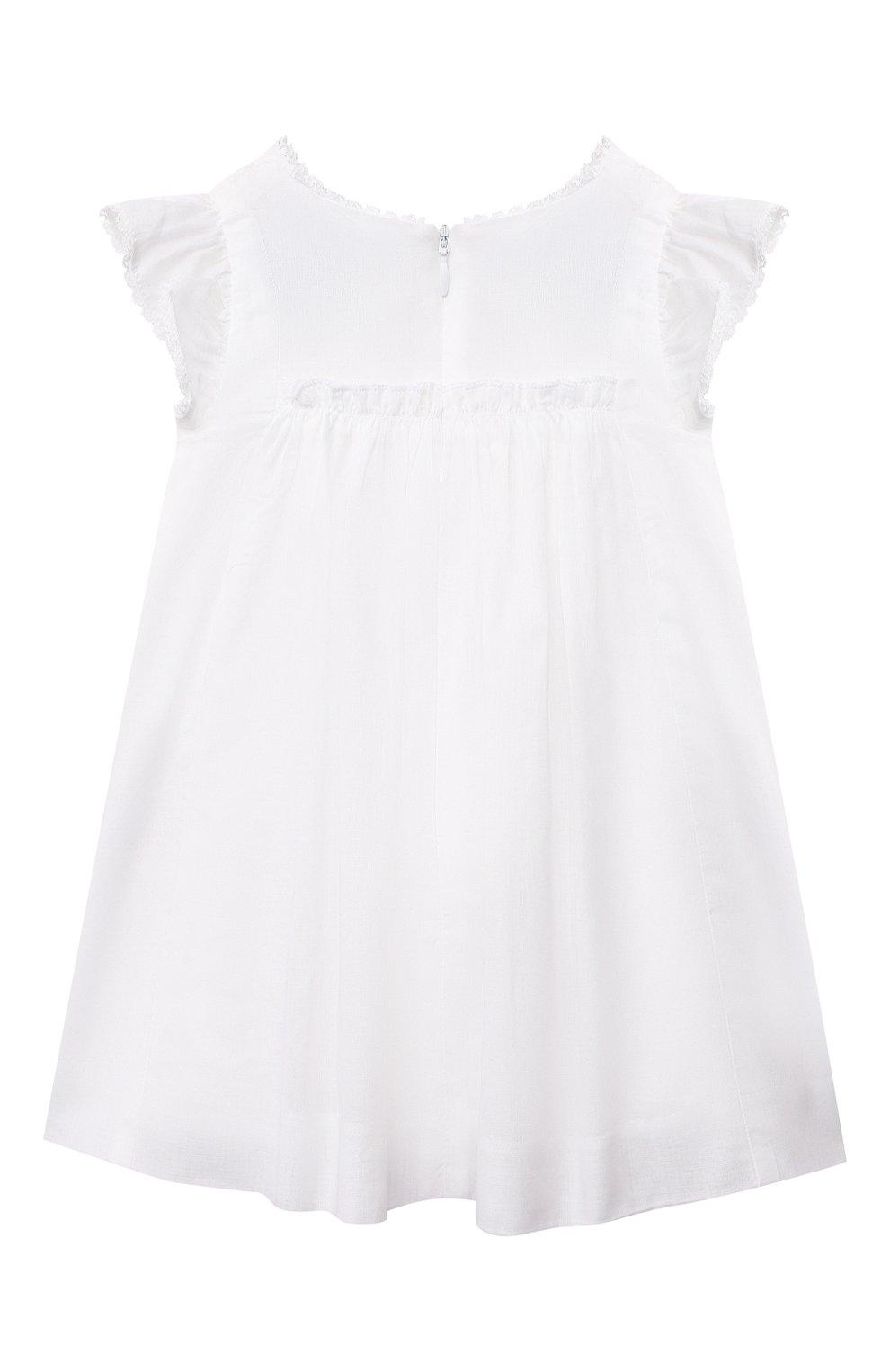 Женский хлопковое платье TARTINE ET CHOCOLAT белого цвета, арт. TS30081/1M-1A | Фото 2