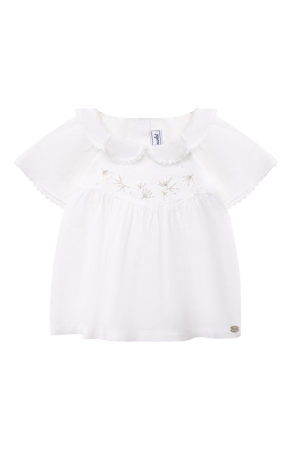 Детский комплект из топа и шорт TARTINE ET CHOCOLAT белого цвета, арт. TS37011/1M-9M | Фото 2