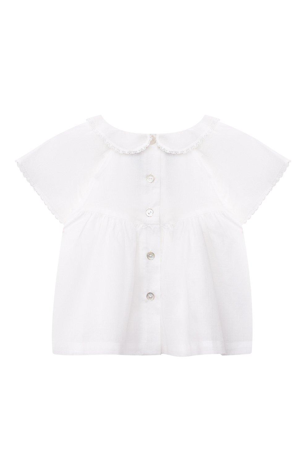 Детский комплект из топа и шорт TARTINE ET CHOCOLAT белого цвета, арт. TS37011/1M-9M | Фото 3