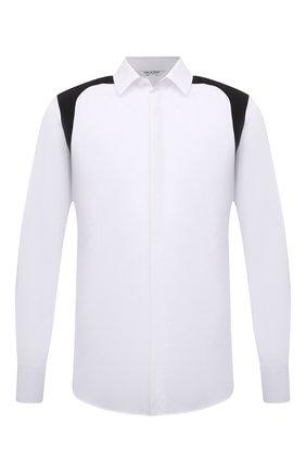 Мужская хлопковая рубашка NEIL BARRETT белого цвета, арт. PBCM1483C/Q045C | Фото 1