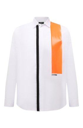 Мужская хлопковая рубашка DSQUARED2 белого цвета, арт. S71DM0474/S36275   Фото 1